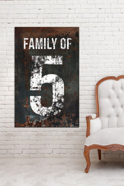 Vintage Decor Family of Canvas Wall Art Print