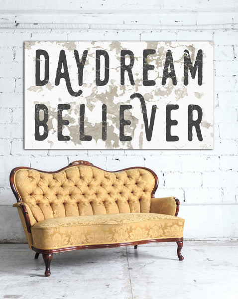 Daydream Believer Chippy Farmhouse Decor Canvas Art