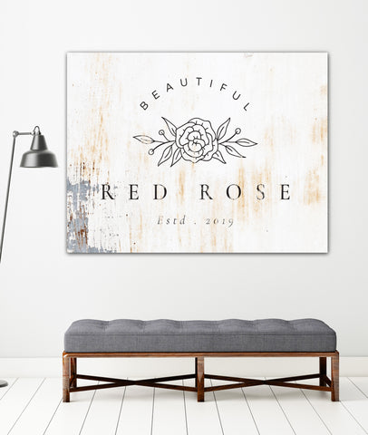 White Metal Style Logo to Canvas Large Wall Art Print - LT5