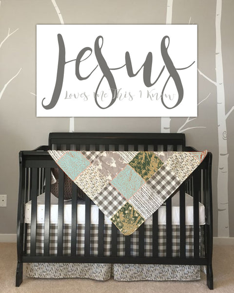 Nursery Ideas And Décor To Inspire You: Jesus Loves Me Baby Room Art