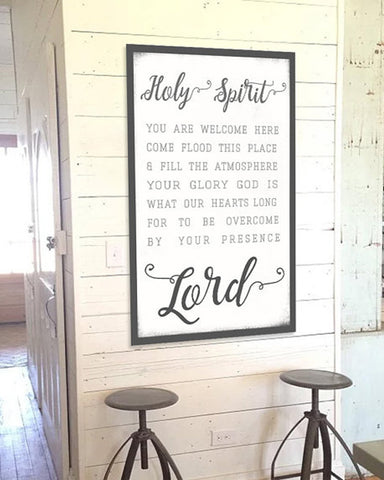 Holy Spirit Lead Me - Wall Art