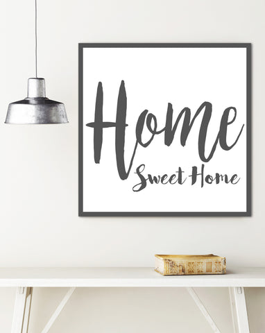 Home Sweet Home Farmhouse Sign - Rustic Wall Decor