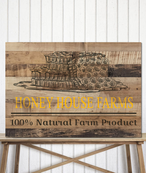Reclaimed Wood Style Logo to Canvas Art Print - LT21