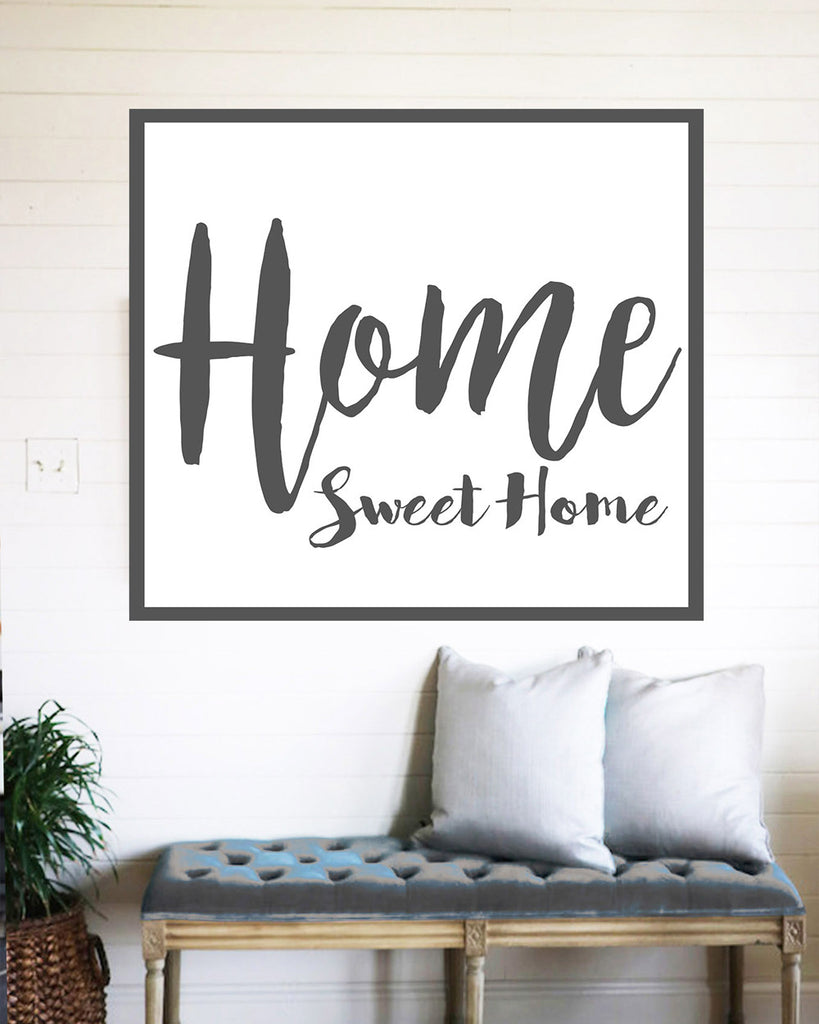 Home sweet home farmhouse sign rustic wall decor walls for Room decor pics
