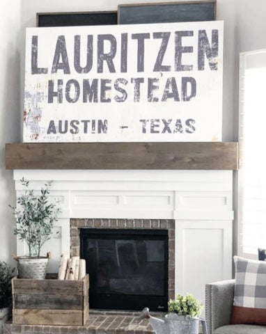 Family Name Sign Homestead Sign - Farmhouse Decor Wall Art Canvas Prints