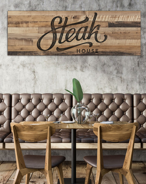 Reclaim Wood Style Long Logo to Canvas Wall Art - LS33
