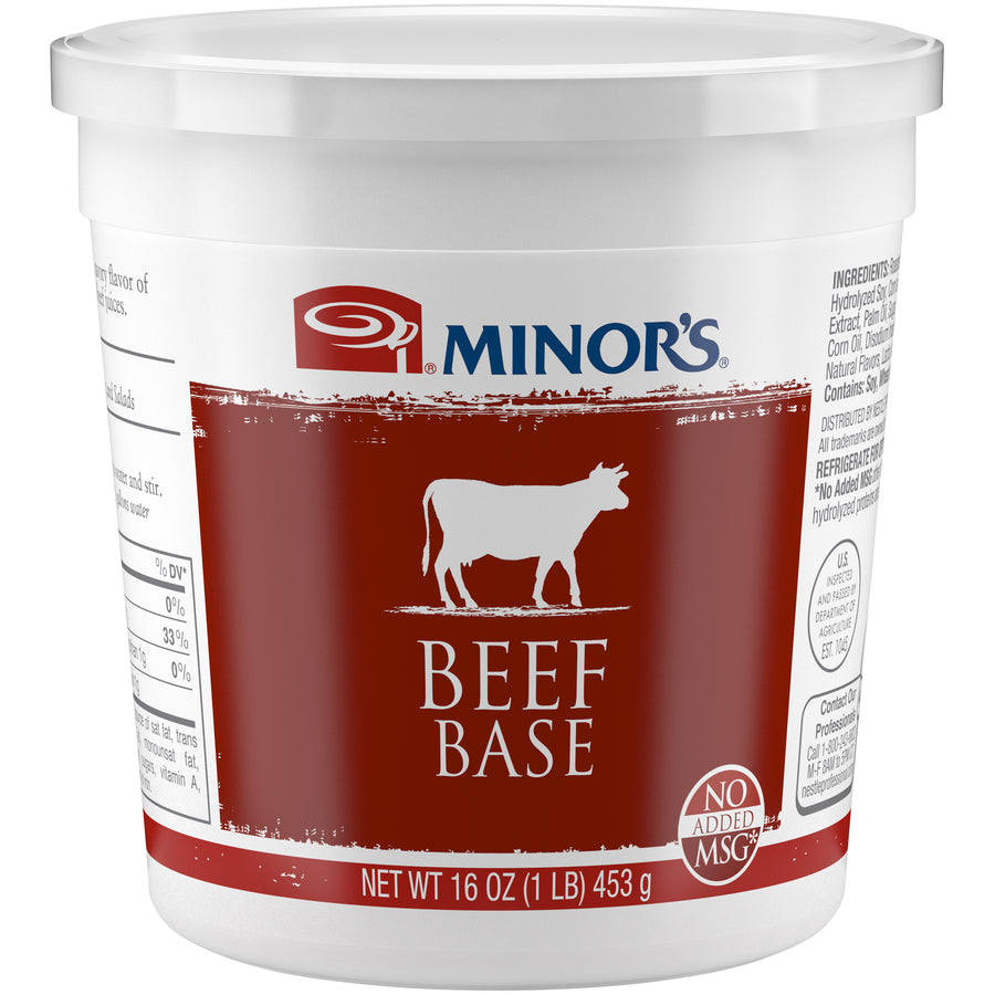 Minor's Beef Base No MSG Added - 1 lb. Cup (#329-01)