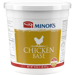 Minor's Chicken Base No MSG Added - 1 lb. Cup (#459-01)