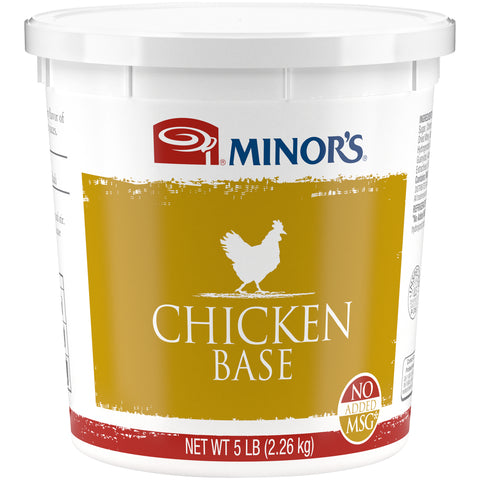 Minor's Chicken Base No MSG Added - 5 lb. Pail (#459-04)