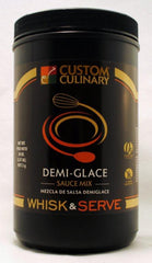 Custom Culinary Whisk & Serve Demi-Glace Sauce Mix - 38 oz. Canister