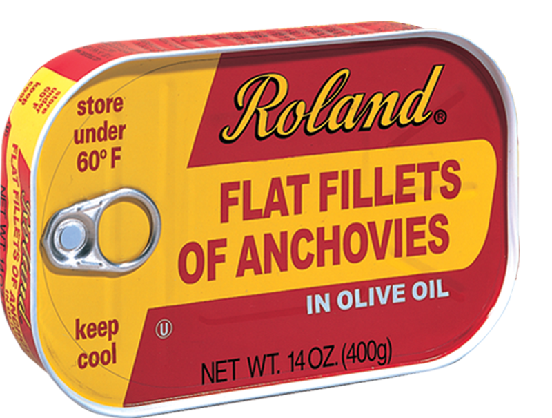 Roland Anchovy in Olive Oil- 14 oz. Tin (Item #18040)