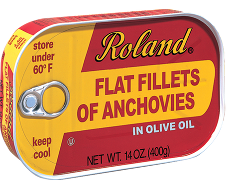 Roland Anchovy in Oilive Oil- 14 oz. Tin (Item #18040)