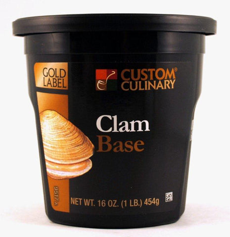 Custom Culinary Gold Label Clam Base No MSG Added - 1 lb. Jar