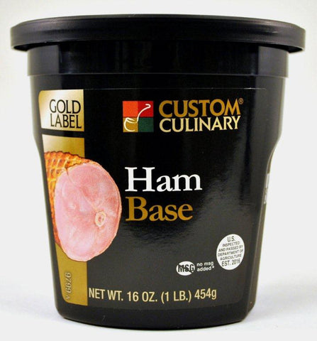 Custom Culinary Gold Label Ham Base - 1 lb. Jar (#9799006001)