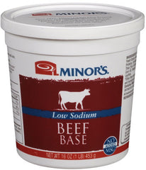 Minor's Beef Base Low Sodium - 5 lb. Cup
