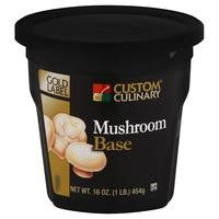 Custom Culinary Gold Label Mushroom Base - 1 lb. Jar