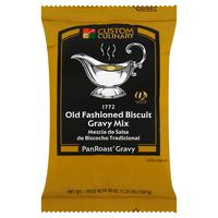 Custom Culinary PanRoast Old Fashioned Biscuit Gravy Mix - 20 oz. Bag