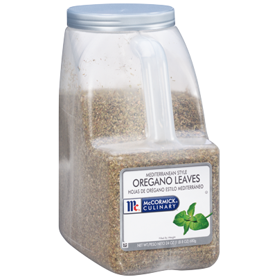 McCormick Oregano Leaves - 1.5 lb. Jar (#32483)
