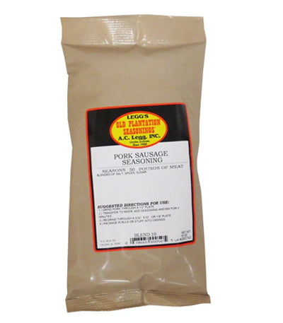 Leggs Old Plantation Pork Sausage Seasoning 16 oz. Bag (#050)