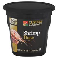 Custom Culinary Gold Label Shrimp Base with No MSG Added - 1 lb. Jar
