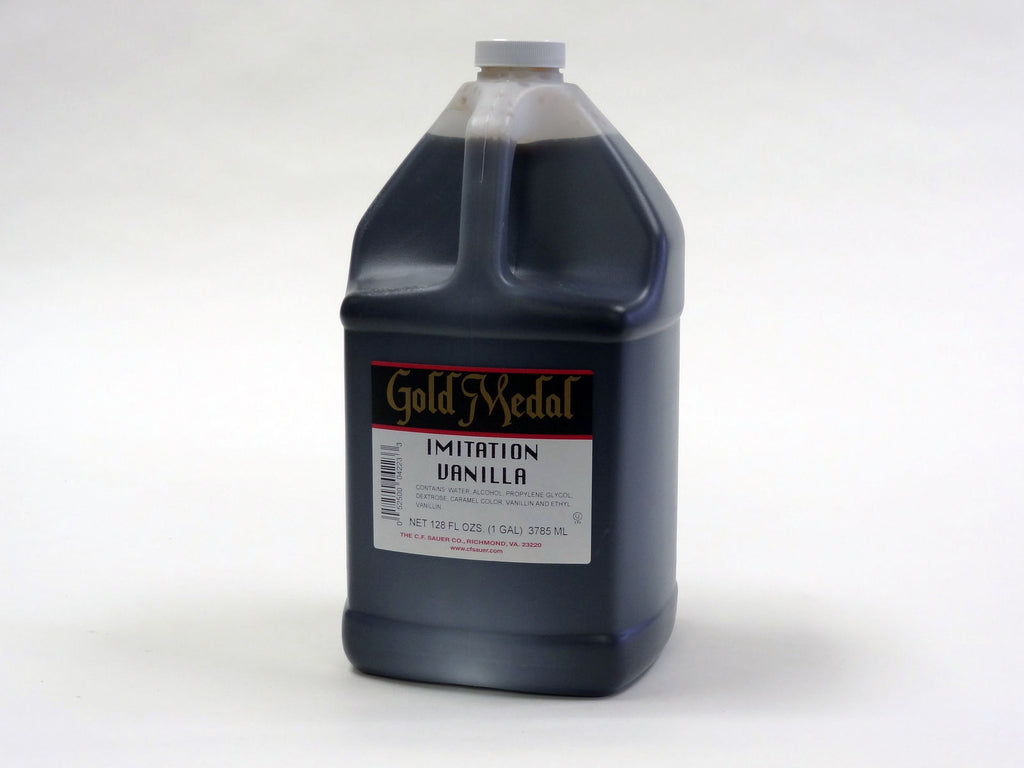 CF Sauer Gold Medal Vanilla Imitation Extract - 1 Gallon Jug (#04223)