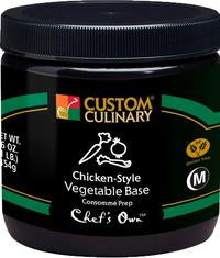 Custom Culinary Chef's Own Chicken-Style Vegetable Base - 1 lb. Jar