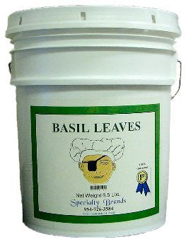 Specialty Brands Basil Leaves - 6.5 lb. Pail (#3002-B)