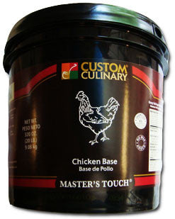 Custom Culinary Chef's Own Select Chicken Base No MSG Added - 20 lb. Pail (#0157001020)