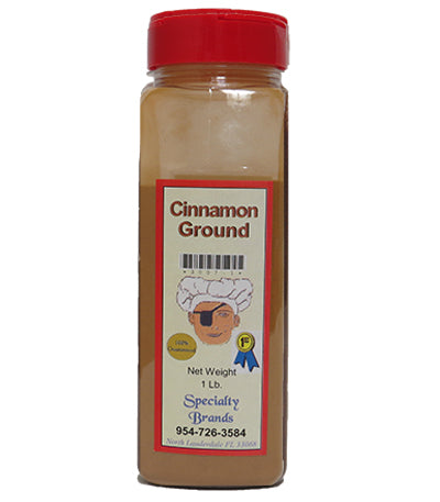 Cinnamon Ground - 1 lb. Jar