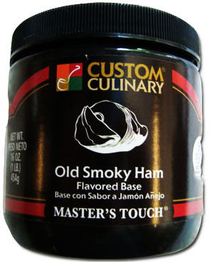 Custom Culinary Chef's Own Select Old Smoky Ham Base - 1 lb. Jar (#0746012001)