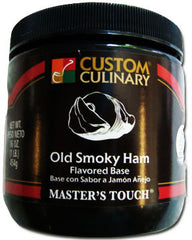 Custom Culinary Chef's Own Select Old Smoky Ham Base - 1 lb. Jar