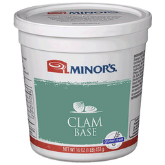 Minor's Clam Base No MSG Added - 1 lb. Jar (#649-01)