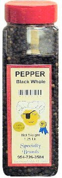 Pepper Black Whole - 1.25 lb. Jar