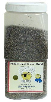 Specialty Brands Pepper Black Shaker - 5 lb. Jar (#3046-5)