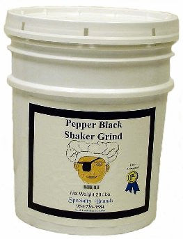 Specialty Brands Pepper Black Shaker - 20 lb. Pail (#3046-B)