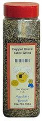 Pepper Black Table - 1 lb. Jar