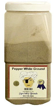 Specialty Brands Pepper White Ground - 5 lb. Jar (#3036-5)
