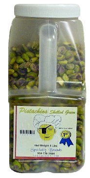 Pistachios Shelled Green - 5 lb. Jar