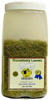 Specialty Brands Rosemary Leaves - 1.75 lb. Jar (#41784-1)