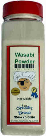 Specialty Brands Wasabi Powder - 18 oz. Jar (#3072-18)