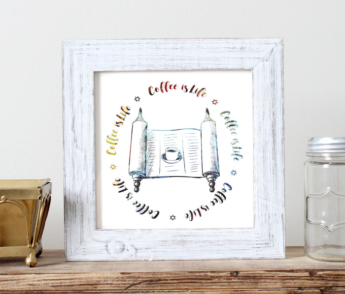 Coffee Is Life - Torah Giclée Print - God Then Coffee