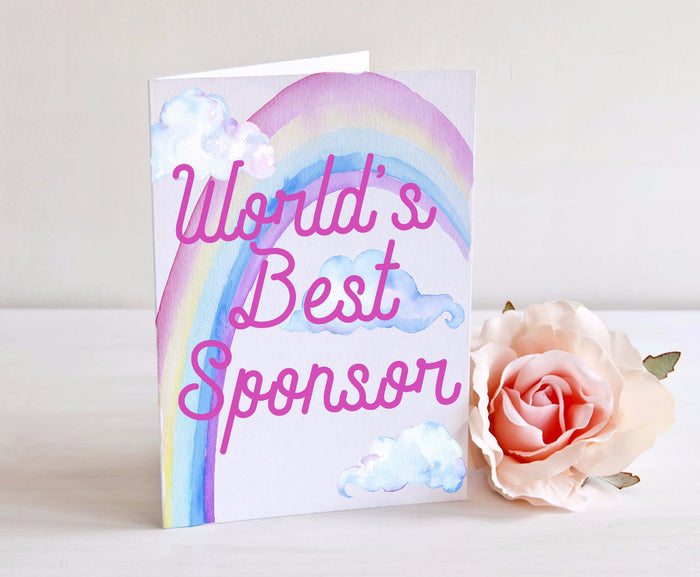 World's Best Sponsor - Card