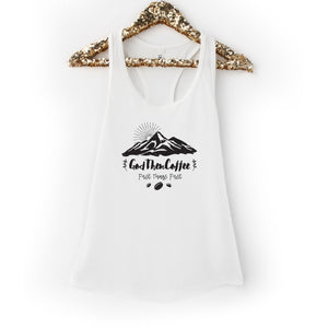 God Then Coffee Signature Racerback Tank Top