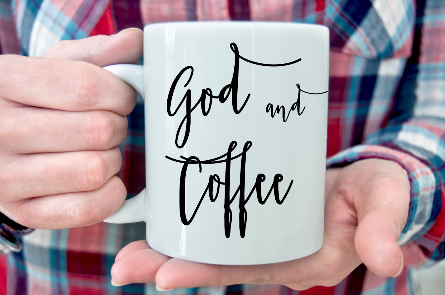 God and Coffee coffee mug