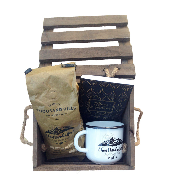 Gift basket for men - coffee