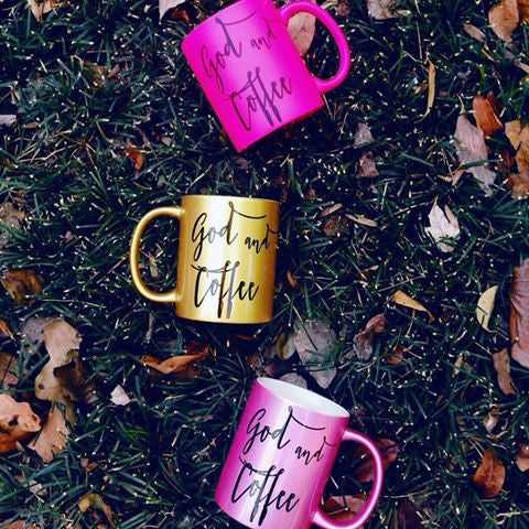 Metallic Pink Coffee Mug or Matte Hot Pink