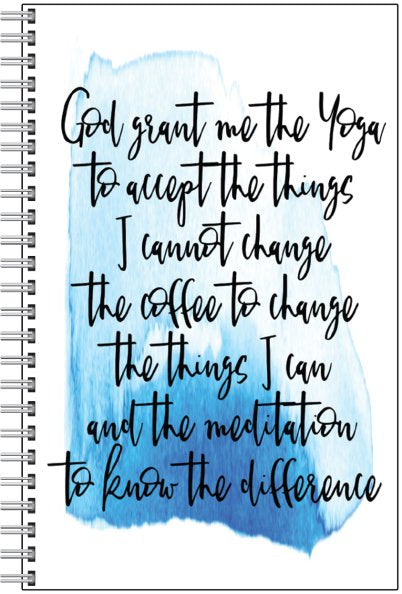 Coffee Version - Serenity Prayer Notebook