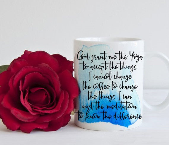 Serenity Prayer Mug - Coffee Version - God Then Coffee