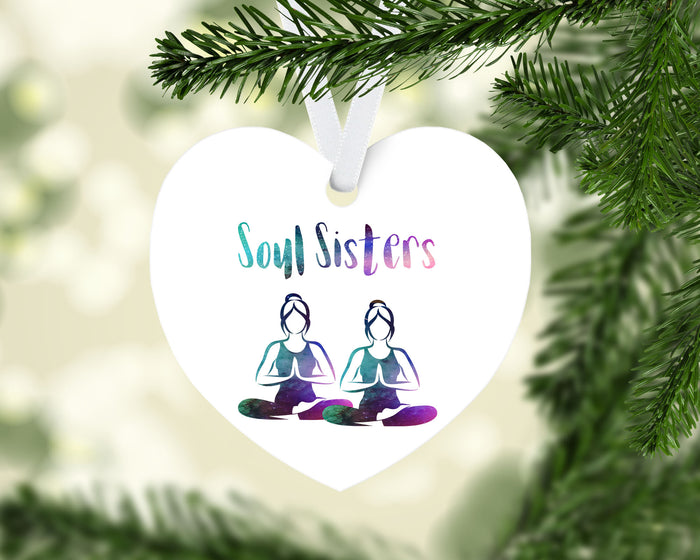 Holiday Ornament - Heart Shaped Soul Sisters