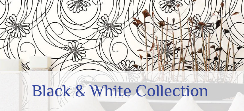 "About Wall Decor's ""Inspired By Color Black & White"" Wallpaper Collection"